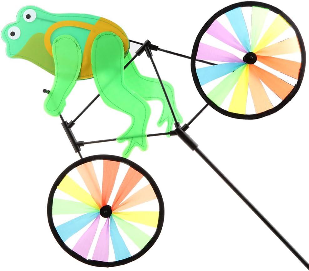 LOVIVER Molino De Viento De Dibujos Animados Animal Ride Bike ...