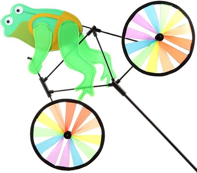 FLAMEER Molino De Viento De Dibujos Animados Animal Ride Bicicleta ...