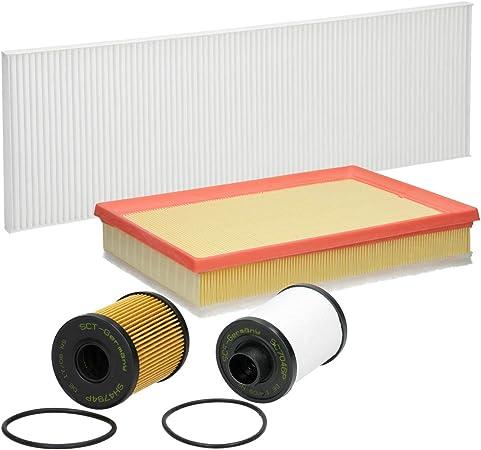 Inspektionspaket Wartungspaket Filterset 1 X Ölfilter Mit Dichtung 1 X Luftfilter 1 X Innenraumfilter 1 X Kraftstofffilter Mit Dichtung Auto