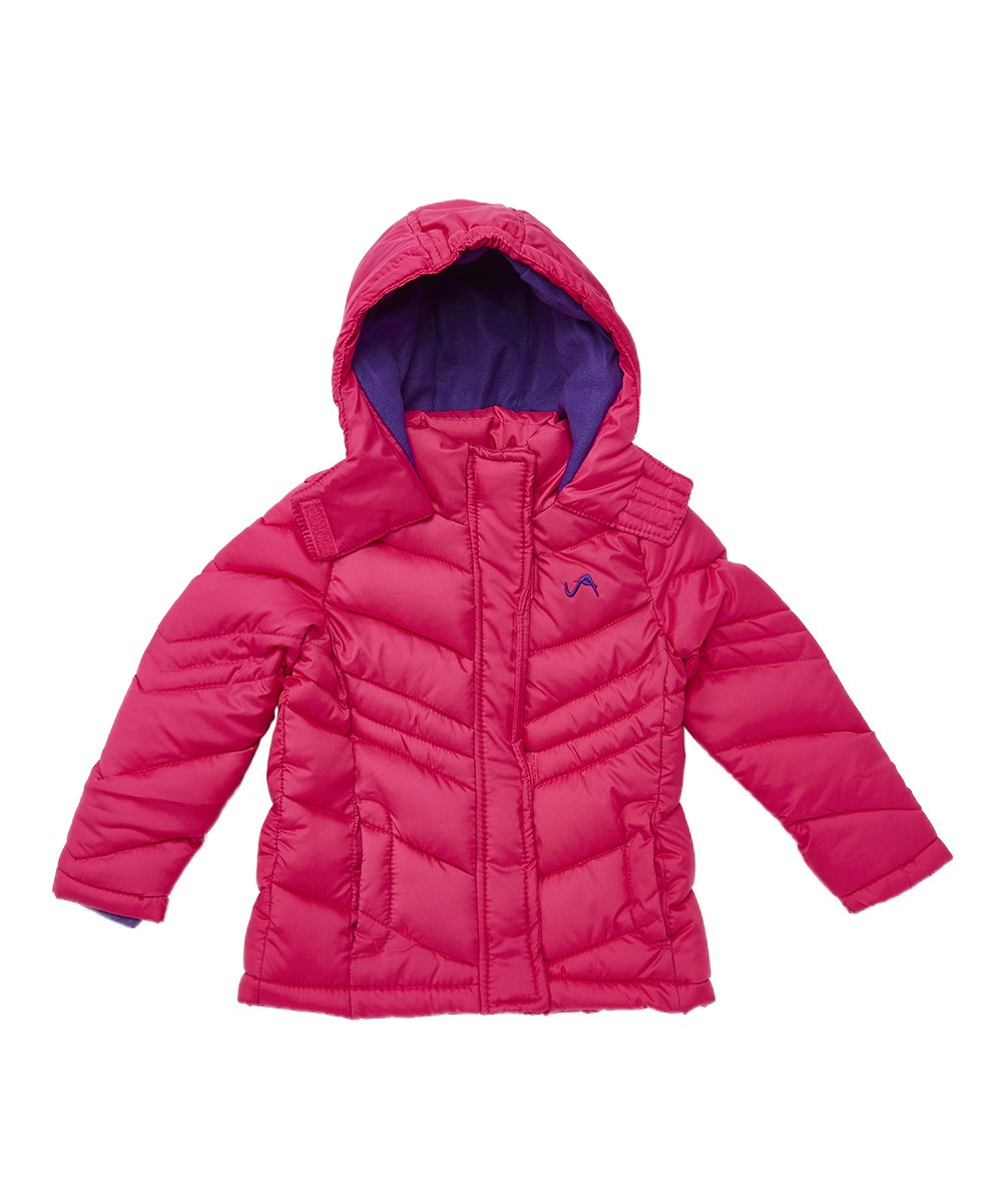Vertical '9 Big Girls' Bubble Jacket (More Styles Available), Quilted V309 Fuschia, 10/12