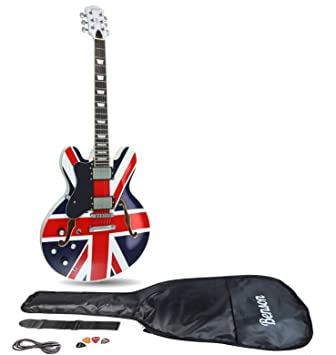 Benson ES - Conjunto de guitarra eléctrica semiacústica para unión (Supernova)