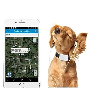 TKSTAR Rastreador GPS Mascotas Mini GPS Tracker Impermeable Localizador GPS Perros GPS para Mascotas en Tiempo