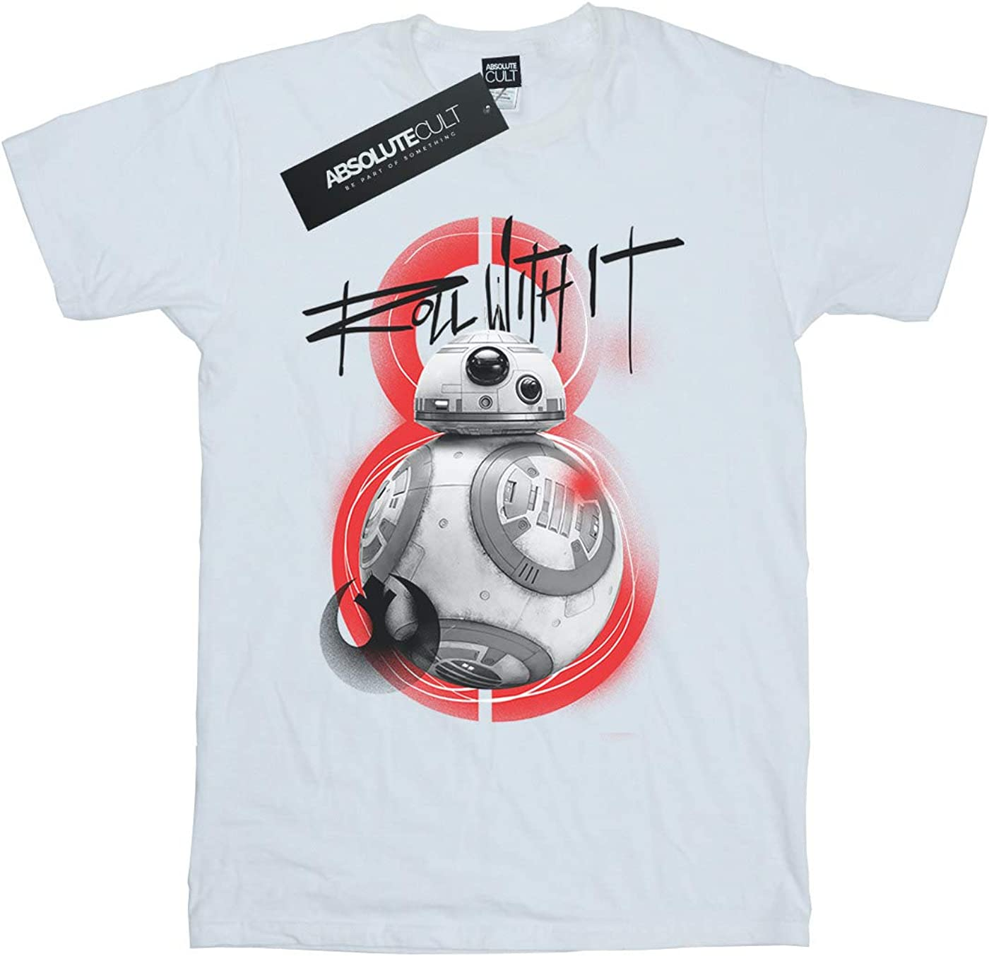 STAR WARS Boys The Last Jedi BB-8 Roll with It T-Shirt 5-6 Years White