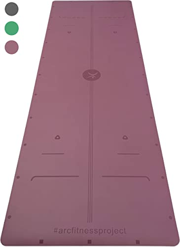 ARC fitness project 72 x 24 x 4mm NON-SLIP YOGA MAT w ARC ALIGNMENT PRO