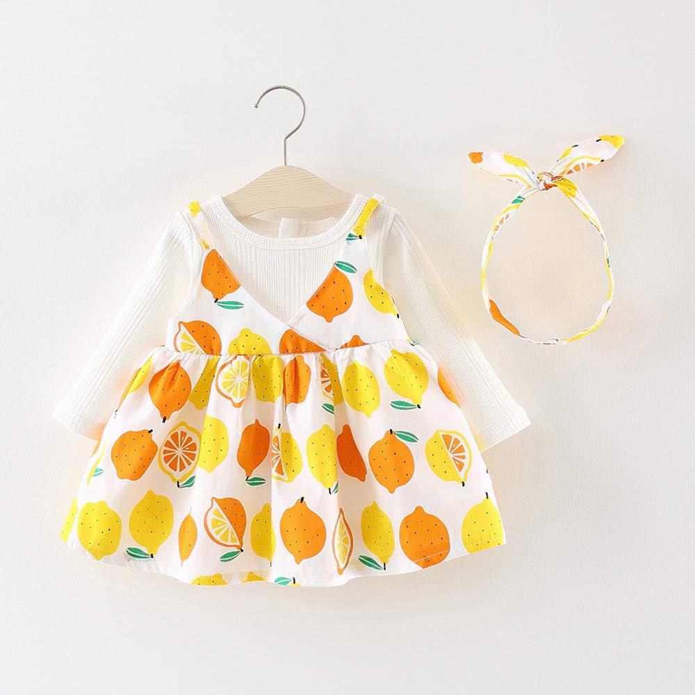 HARRYSTORE Baby Langarm Polka Dot Bow Kleid Baby Prinzessin Kleid Neugeborenen M/ädchen Dot Bowknot Prinzessin Kleid Outfits Long Sleeve Princess Dress