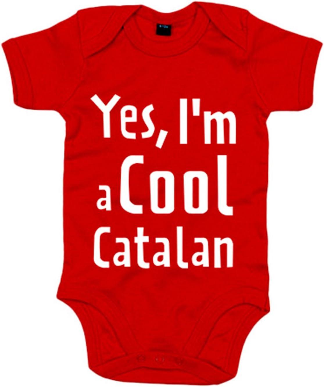 Body beb/é yes I Am A Cool Catalan 6-12 meses Rojo
