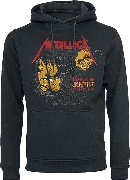Metallica Harvester Retro Sudadera con Capucha Negro: Amazon.es: Ropa y accesorios