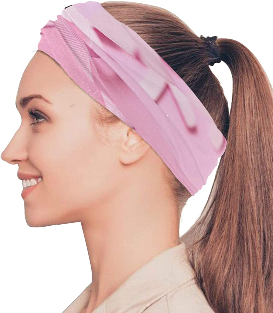 Amazon Com Gednix Pink Ribbon Breast Cancer Awareness Elastic Headbands Head Wrap Shawl Sports Sweatband Face Mask Magic Scarf Hair Accessories Bands Ties For Women Men Girls Running Workout Fitness Yoga