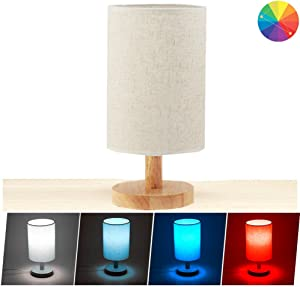 Cevitor Smart Home Wifi Table Lamp, Alexa Vioce Control, Minimalist Solid Wood Bedside Desk Lamp,Not Hub Required