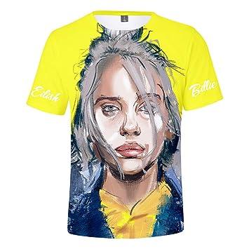 Casual T-Shirt F/ür M/änner Und Frauen WEY T-Shirt Billie Eilish Print Kurzarm-T-Shirt