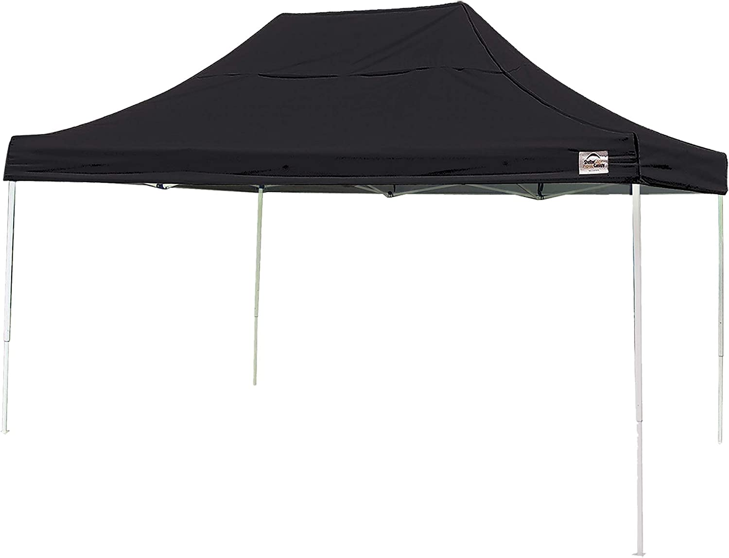 ShelterLogic Easy Set-Up 10 x 15-Feet Straight Leg 50 UPF Protection Pop-Up Canopy with Roller Storage Bag for the Beach, Park, Tailgating, and Other Outdoor Activities, Black