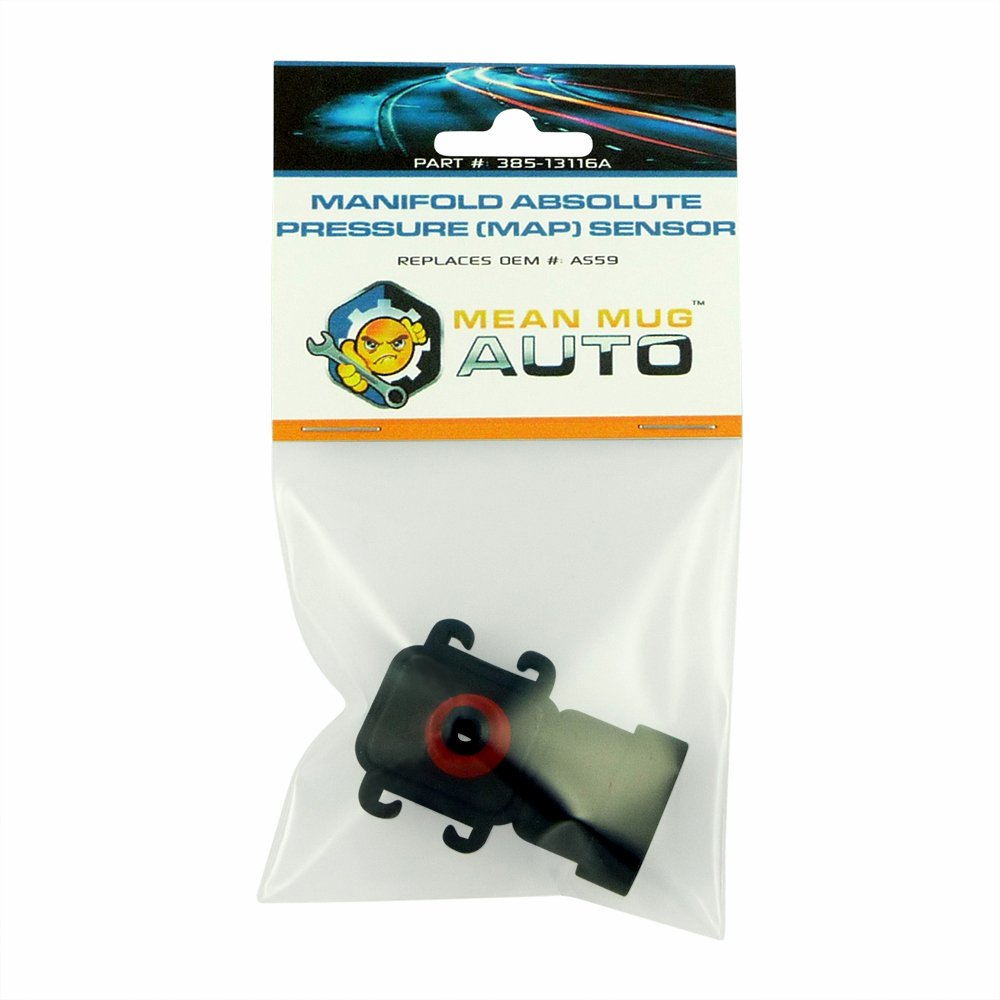 Mean Mug Auto 385-13116A Manifold Absolute Pressure MAP Sensor - For: Buick, Chevrolet, GMC - Replaces OEM #: AS59, 112614973, 12614973, 16187556