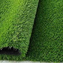 Synturfmats Premium Indoor/outdoor Green Artificial Grass Rug - Decorative Synthetic Turf Runner Rugs Carpet with Drainage Holes, 4/5 Inch Blade Hieght (3'x3')