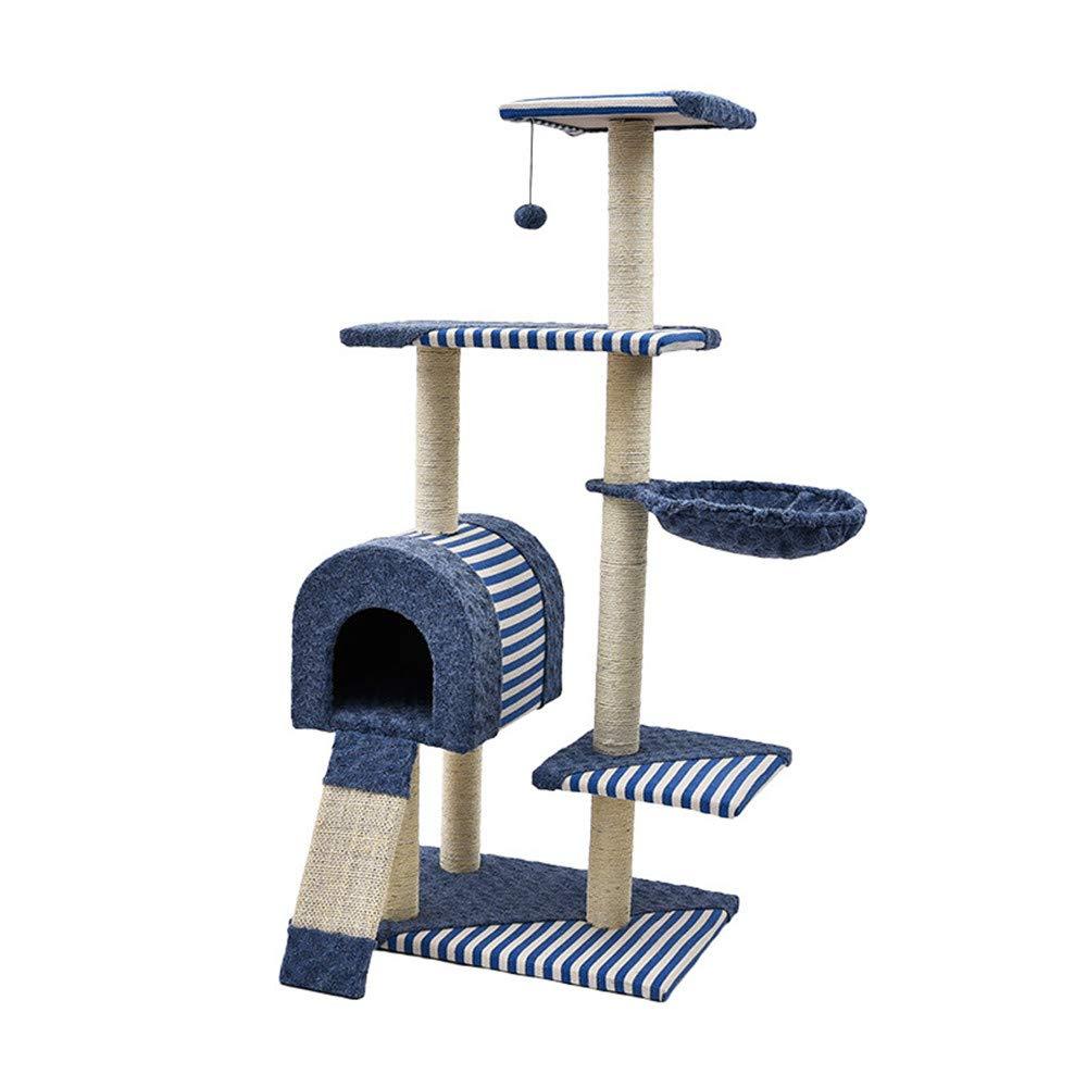 Cat Tree,Warm Cat Nest and Cat Scratch Board,Kitten Activity Centre Climbing Play Tower6040  143CM