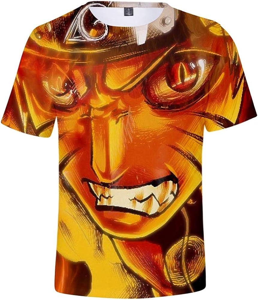 Camisetas Hombres y Mujeres jóvenes Transpirables y cómodos Moda Anime diversión Camiseta de Manga Corta en 3D Naruto más Llamativo.: Amazon.es: Ropa y accesorios