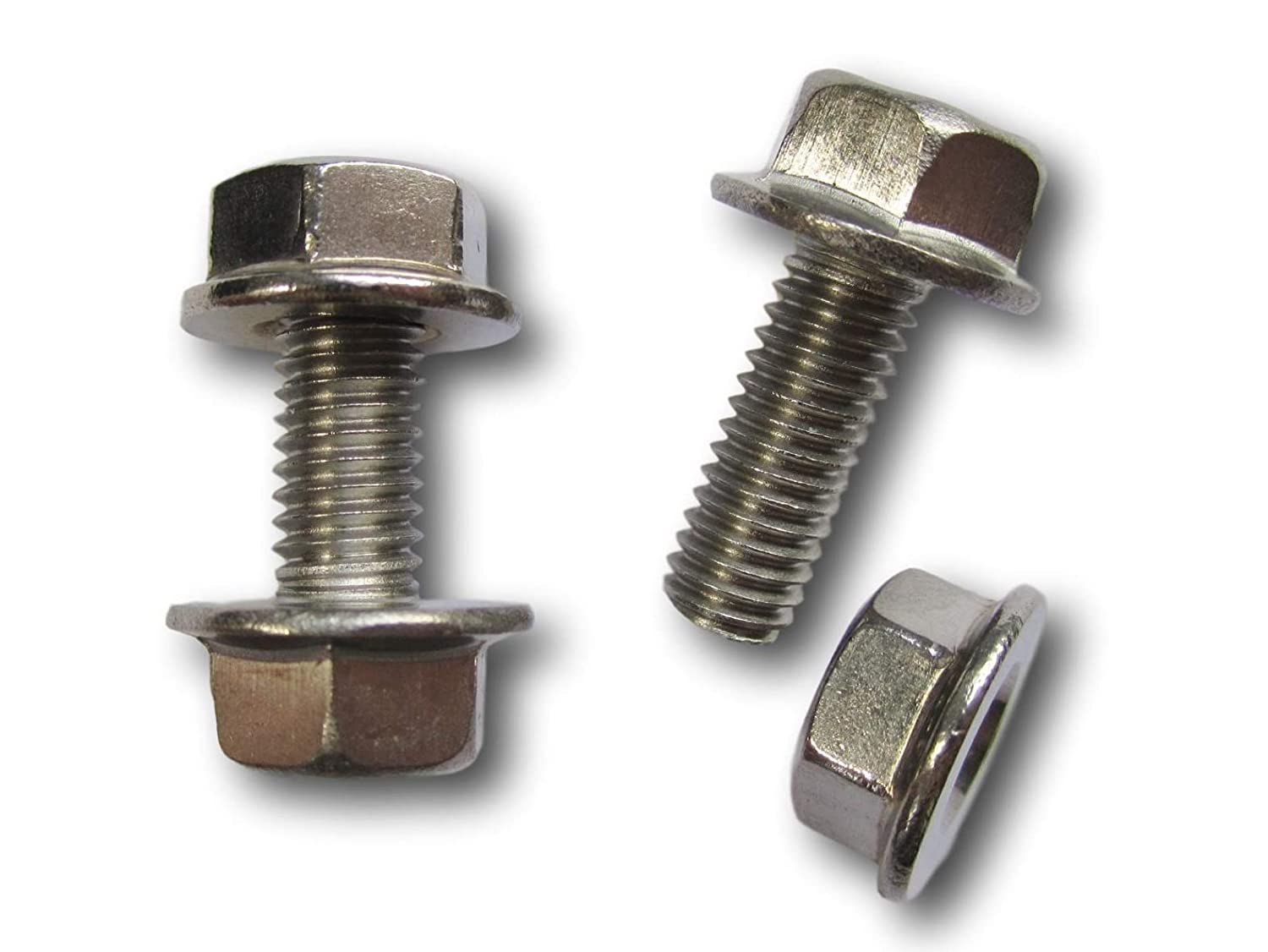 19M7775 14M7303 Replacement Battery Terminal Bolts Nuts Stainless Steel (2-Pack) for John Deere