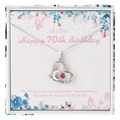 Amazon.com: Regalo de 70 cumpleaños para mujer – Collar de ...