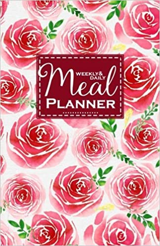 weekly and daily meal planner watercolor roses meal planner journal