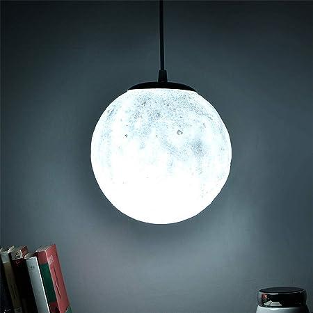 WarmHome 3D Lustre Lune Matériel de PVC 3W LED Romantique lumière Blanche  décoration Donner en Cadeau Chambre Résistance à la Chute 18cm de Long