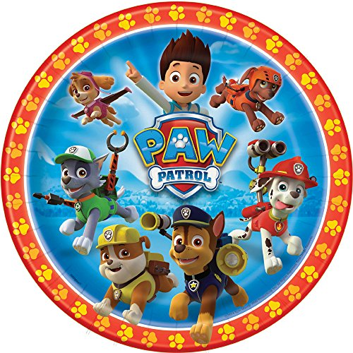 Tv Themed Halloween Costume Ideas (PAW Patrol Dinner Plates 8ct)