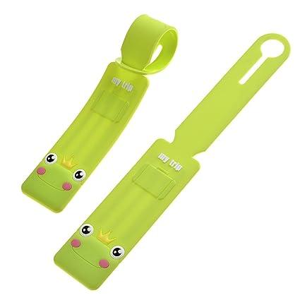 Yoption Cute Cartoon Animal bolsas de equipaje etiqueta para maletas viaje accesorios de viaje identificador Etiqueta ...