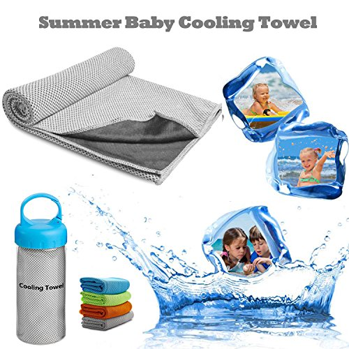 Sealive Summer Baby Cooling Towel - Soft Microfiber Baby Bath Washcloths For Instant Cooling, To Prevent Heatstroke,Great Infant Travel Bathing Kit for Pool (12' Plastic Scooter)