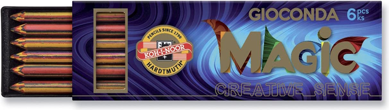 Koh-I-Noor 6 Gioconda 5.6 mm Special Colored Leads. 4376 Magic