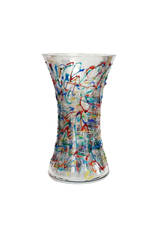 Reflex Vase Jazz 250 verre peint /à la main Murano style Venise