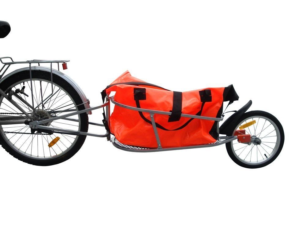 Bike Bicycle Trailer Cargo, Bicycle Trailer One-wheel with Luggage Bag
