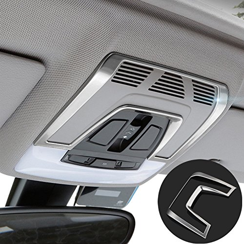 Reading Cover - Stainless Interior Front Reading Light Cover Trim For BMW X5 F15 2014-2017