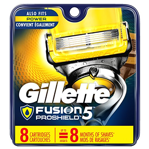 - Gillette Fusion ProShield Men's Razor Blade Refills, 8 Count, Mens Razors / Blades (Packaging May Vary)