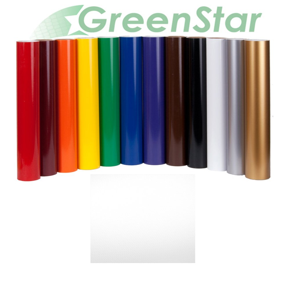 GreenStar Sign Vinyl 24'' x 10Yd, Graphics and Lettering for Interior & Exterior - Matte White
