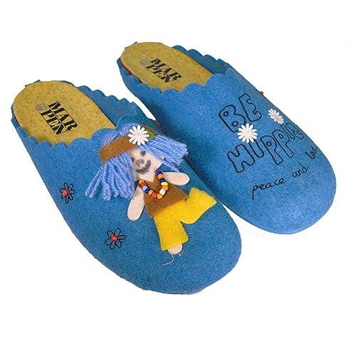 MARPEN Hippie Azul, Zapatilla de Andar por casa: Amazon.es: Zapatos y complementos