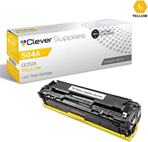CS Compatible Toner Cartridge Replacement for HP CP3525dn CE252A Yellow HP 504A Color Laserjet CM3530 CM3530FS CP3525 CP3525N CP3525DN CP3525X CP3520 CM3530FS MFP CM3530MFP
