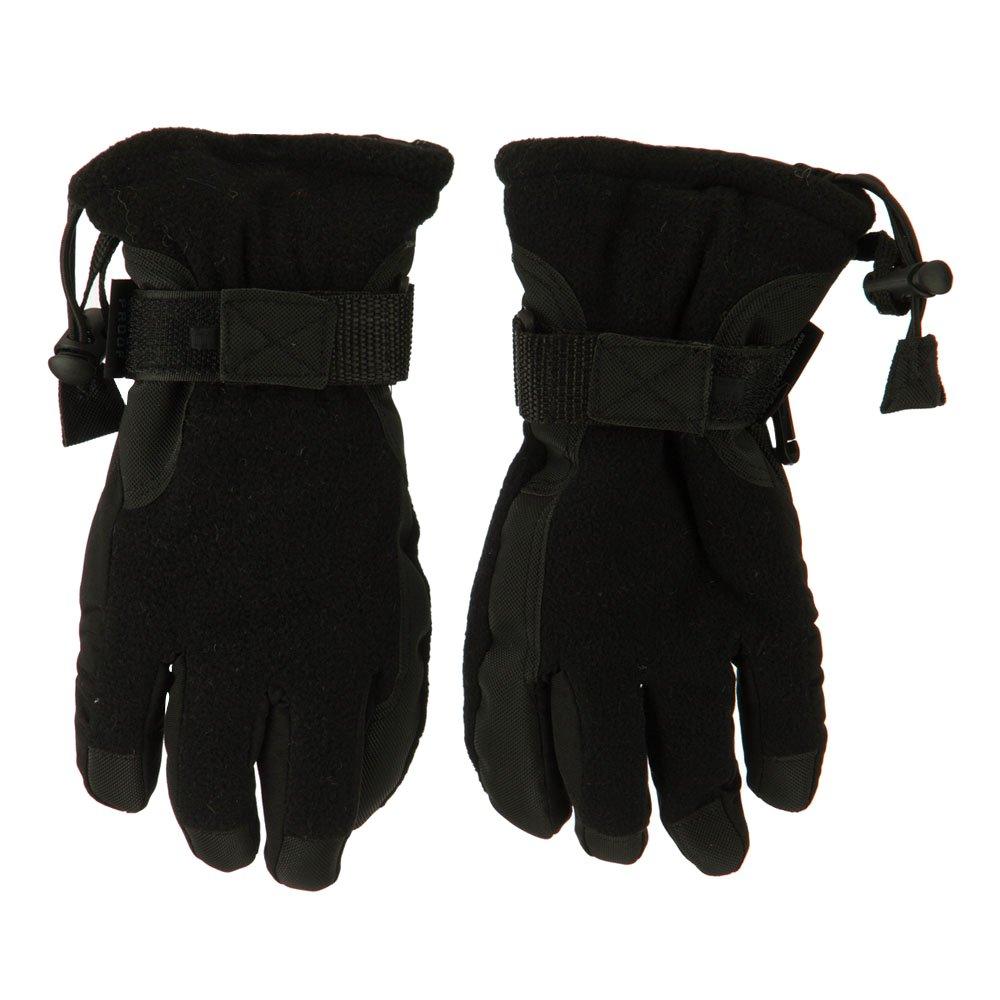 Boys Fleece Waterproof Gloves - Black OSFM