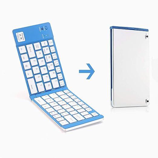 Sxing Teclado Plegable Bluetooth, Plegable Ultrafino De Bluetooth ...