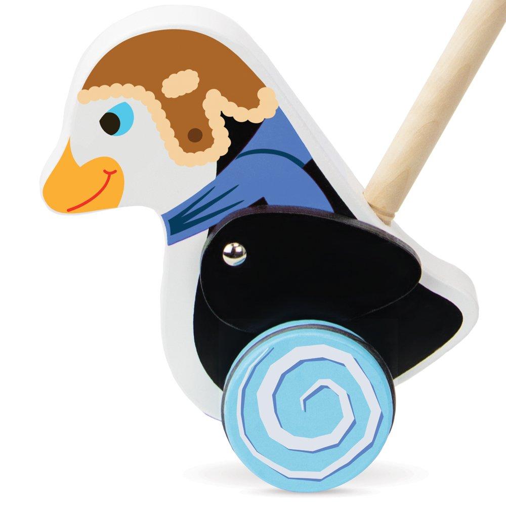 Radical Racers Madcap Penguin Wooden Push Along Walking Toy by Imagination Generation