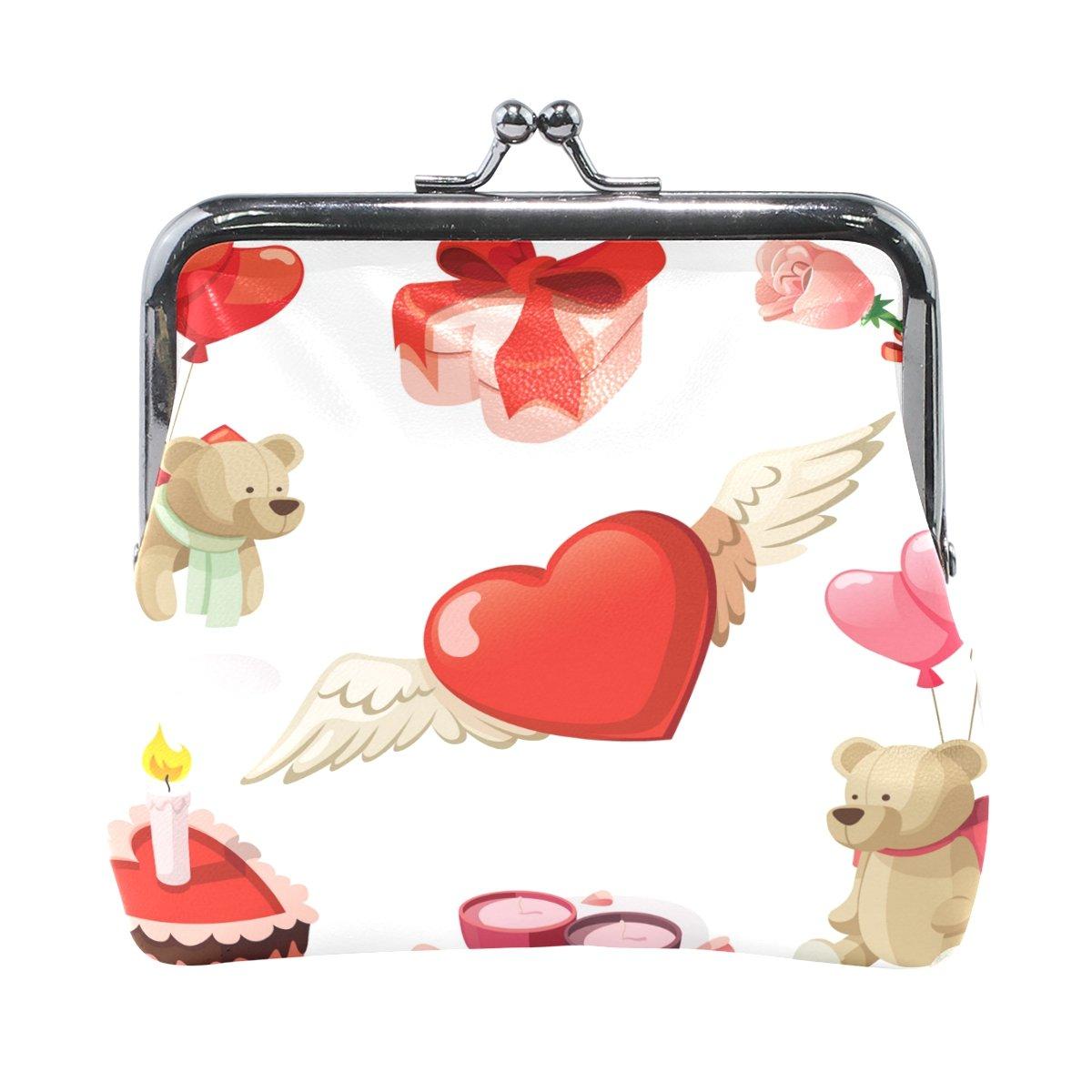 Coin Purse Bear Balloon Wallet Buckle Clutch Handbag For Women Girls Gift