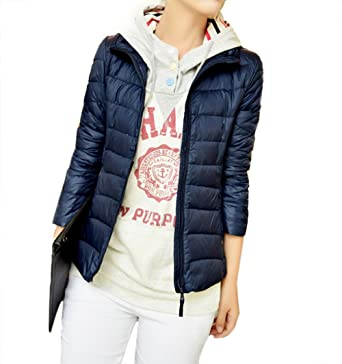 4454f31cebfe Image Unavailable. Image not available for. Color  WenHong Women s Outwear  Down Coat Lightweight Packable Powder Pillow ...
