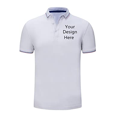 Amazon Com Custom Polo Shirt Add Your Own Text Images Customized