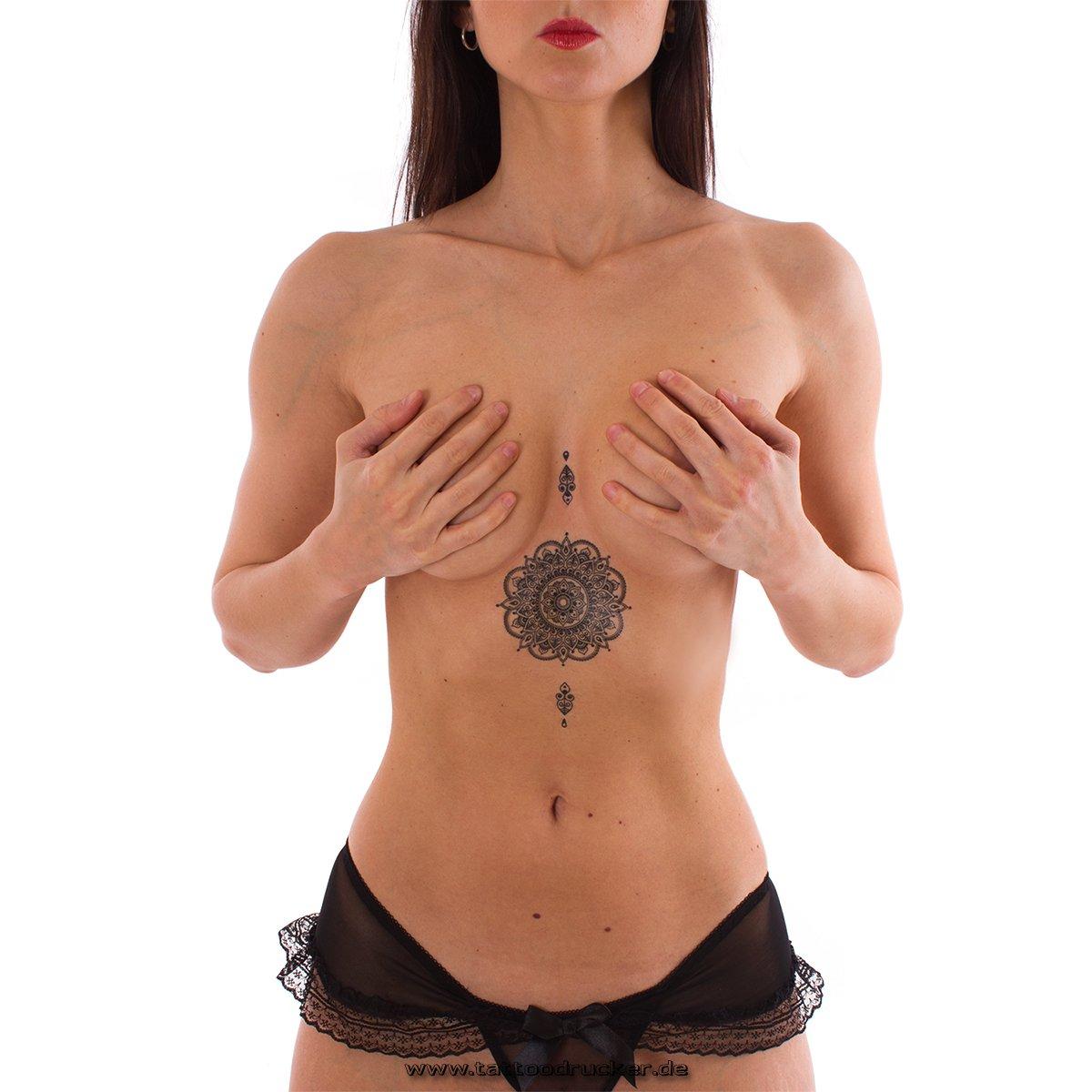 1 Tattoo Mandala Tattoo Negro tatuaje falso Flash Tattoo -Tatuajes temporales(1) Tattoodrucker MandalaTattoo1