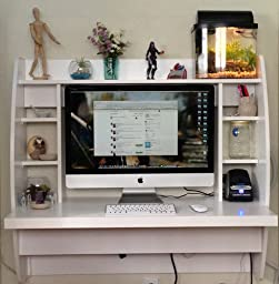 Prepac wall mounted floating desk with storage - Bureau mural rabattable ikea ...