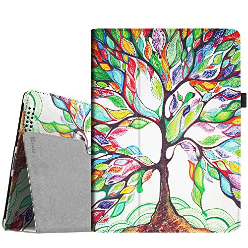 Fintie iPad 4/3/2 Case - Slim Fit Folio Stand Case Smart Protective Cover Auto Sleep/Wake Feature for Apple iPad 2, iPad 3 & iPad 4th Generation with Retina Display - (Z-Love Tree)