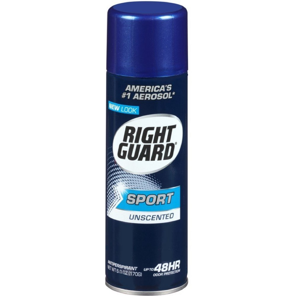 Right Guard Sport Anti-Perspirant Deodorant Spray Unscented 6 oz (Pack of 18)