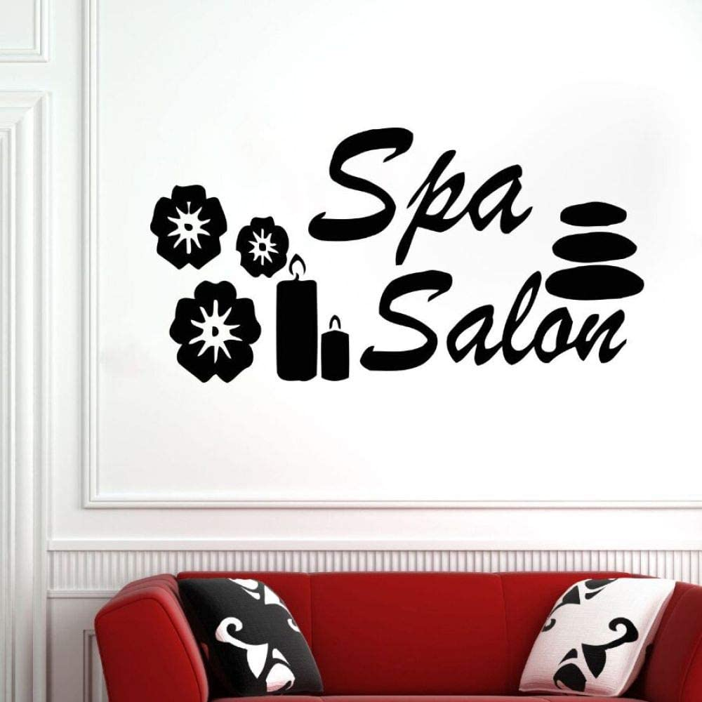 Beauty Salon Wall Sticker SPA Wall Sticker Vinyl Window Sticker Detachable SPA Wall Painting Beauty Shop Decoration Blue 81x42cm: Amazon.es: Hogar