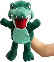 HollyHOME Hand Puppets Crocodile Plush Animal Zoo Alligator Puppets 14 Inches