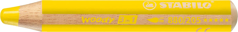 STABILO woody 3 in 1 matitone colorato colore Giallo Neutro - Confezione da 5 880/205