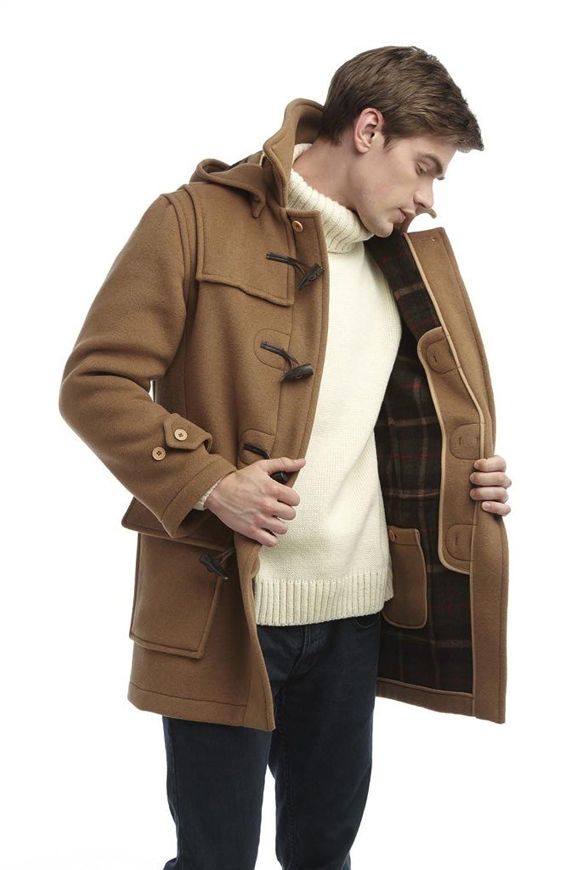 Original Montgomery Mens London Duffle Coat at Amazon Mens Clothing store: Wool Outerwear Coats
