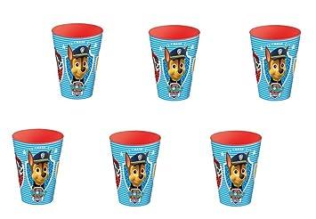 Patrulla canina, 0348, Pack 6 Vasos de plástico para Fiestas ...
