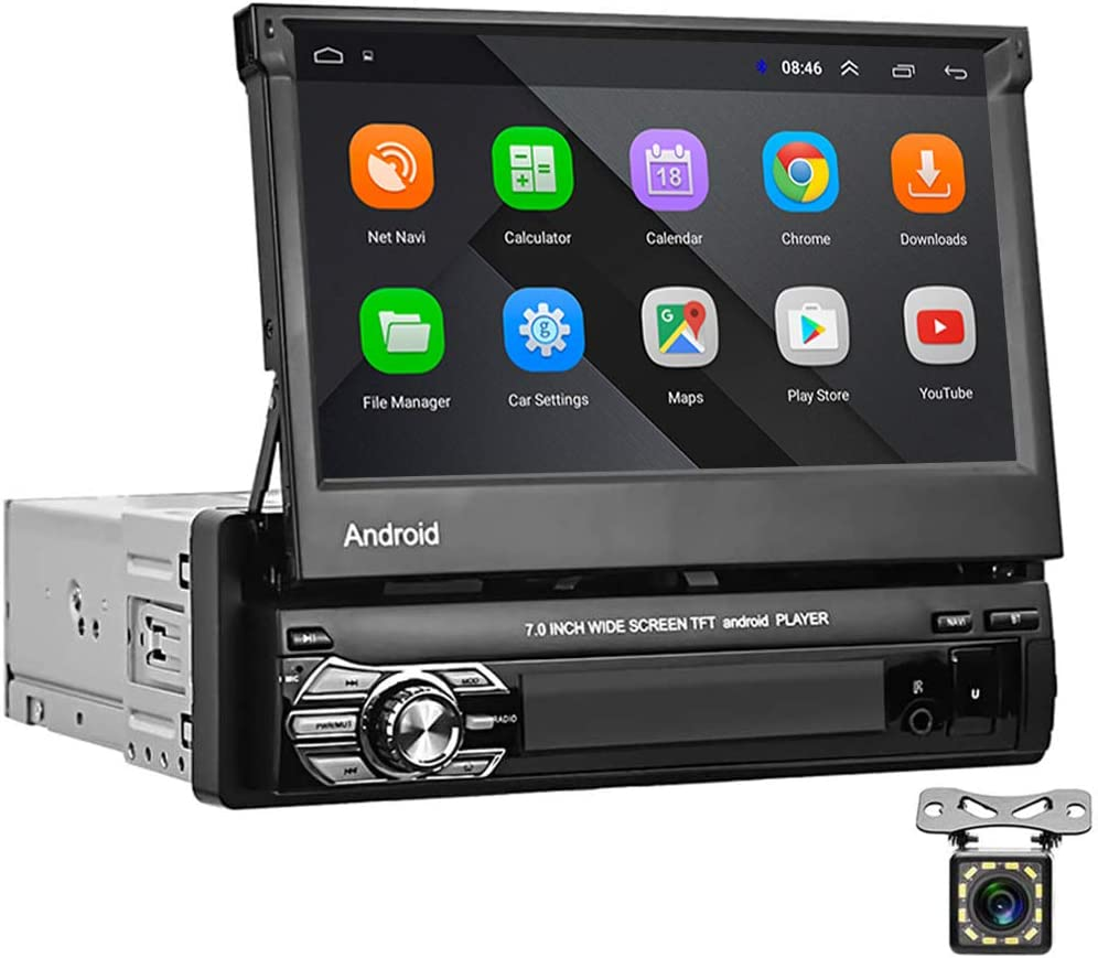Android 1 DIN Car Radio GPS CAMECHO 7